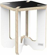 AUPROTEC Blumenhocker Beistelltisch HE-12 Birke 25 x 25 x 30 cm Blumenständer schwarz / weiß Multiplex Birken-Sperrholz in exklusivem Design als Pflanzen-Säule Fußbank Hocker Tisch