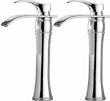Auralum 2er Wasserhahn Bad, Chrom, Einhebelmischer