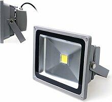 Auralum® 50W LED Fluter Außenstrahler Außenleuchte Flutlicht AC85-265V 4500LM IP65 Kaltweiß Wasserdich