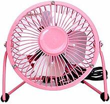 Auralum 6-Zoll Metall USB-Mini-Ventilator Fan Tischventilatoren mit An / Aus-Schalter 404g Pink