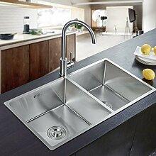 Auralum 80×45×22cm Küchenspüle Waschbecken