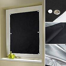 AuraLum® 96x120cm Thermo Dachfenster Sonnenschutz Verdunkelungsrollo für Velux Dachfenster aus 100% Polyester mit Krafthaftsaugern und Silber Thermo-Beschichtung