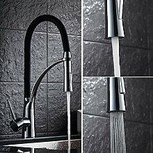 Auralum®armatur küche 360°drehbar Wasser sparen für Spüle mit Keramik Ventil Messing verchromt Wasserhahn