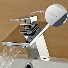 Auralum Armatur Waschtischarmatur Wasserhahn Wasserfall Bad Waschbecken