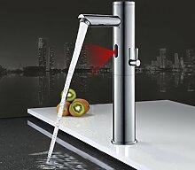 Auralum Automatische Spüle Sensor Wasserhahn washbain Küche Armatur Infrarot Wasserhahn Einhebelmischer