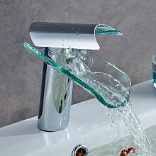 Auralum Chrom Armatur Wasserhahn Waschtischarmatur