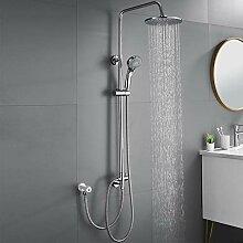 Auralum Chrom Duschsystem Ohne Wasserhahn, Mit