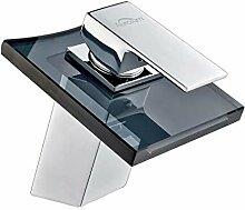 Auralum Chrom Glas Wasserhahn Waschtischarmatur