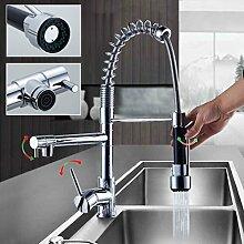 Auralum® Chrom Küchearmatur Spüle Waschtisch