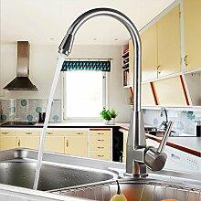 Auralum® Chrom Küchenarmatur Mischbatterie Wasserhahn Armatur Waschtischarmatur Waschbecken Spüle Wasserfall für Küche Type B