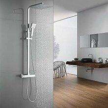 Auralum Duschsystem mit Thermostat Mischer,
