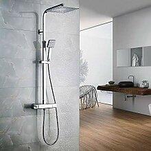 Auralum Duschsystem mit Thermostat Mischer mit