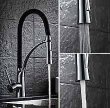 Auralum Elegant 360°drehbar Wasserhahn Einhebel Mischbatterie Spültischarmatur Armatur aus Kupfer für Küche Spüle