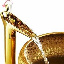 Auralum® Elegant Gold Hoch Mischbatterie