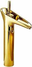 Auralum® Elegant Gold Weinglas Form Hoch Einhebel