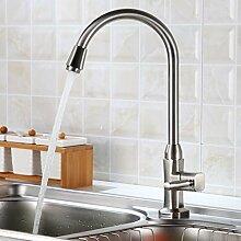 Auralum® Elegant Hochwertig Kaltwasser Armatur Küchenarmatur Wasserhahn für Waschbecken Küche Spüle