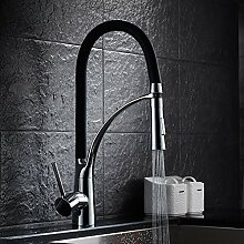 Auralum® Elegant Spiralfederarmatur Mischbatterie Küchenarmatur Herausziehbar 360°drehbar Küche Spüle