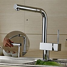 Auralum Elegant Wasserhahn Armatur Einhandmischer Mischbatterie mit ausziehbar Brause für Küche Waschbecken