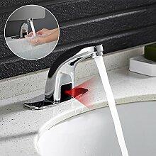 Auralum Infrarot Sensor Automatische Wasserhahn Waschtischarmatur Armatur nur für kaltwasser, für Badzimmer