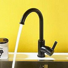 Auralum Küche Wasserhahn schwarz Einhandmisch