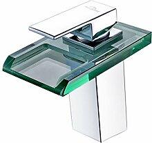 Auralum Led Waschtischarmatur Wasserfall Glas