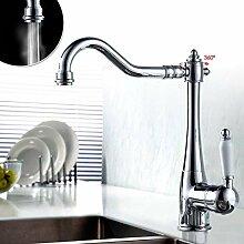 Auralum Moderne 360 ° Wasserhahn Waschbecken hoch