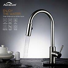 Auralum® Niederdruck Ausziehbare Wasserhahn