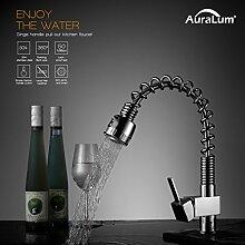 Auralum® Niederdruck Feder Ausziehbare Wasserhahn