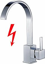 Auralum Niederdruck Mischbatterie Küchenarmatur 360° Drehbar Armatur Küche Einhandmischer Waschtischarmatur Wasserhahn küche