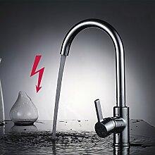 AuraLum Niederdruck Mischbatterie Küchenarmatur 360° drehbar Armatur Küche Einhandmischer Waschtischarmatur für Spüle Küche