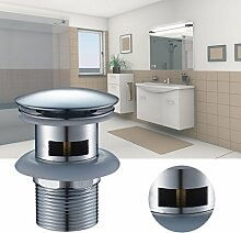 Auralum® Pop Up Waschbecken Ablaufgarnitur Ablaufventil Schaftventil Ablauf Abfluss