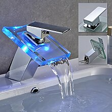 Auralum® RGB LED Wasserfall Waschtisch Armatur