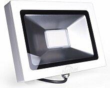 Auralum super slim 30W LED Flutlicht Fluter Strahler 220V Außenleuchte,2250LM, 4000K, Natural weiß,IP65 Wasserdicht, Aluminium,In- und Outdoor Außenstrahler Aussenstrahler außenbeleuchtung in Weiß Baustrahler Halogenstrahler