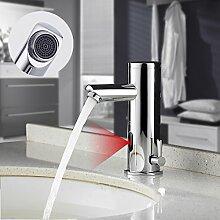 Auralum Verchromter Wasserhahn mit Infrarot Sensor