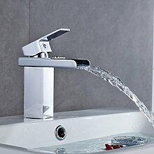 Auralum® Waschtischarmatur Wasserhahn Wasserfall Einhandmischer Einhebel Armatur Bad