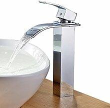 AuraLum Wasserfall-Armatur für Waschbecken,