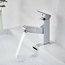 Auralum Wasserhahn Bad ausziehbar mit Brause