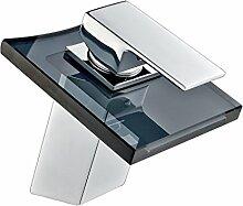 Auralum Wasserhahn Bad Glas Mischbatterie für
