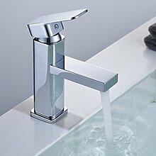 Auralum Wasserhahn Chrom Waschtischarmatur Waschtisch Spüle Armatur Mischbatterie Bad