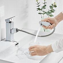 Auralum Wasserhahn fürs Bad mit herausziehbare