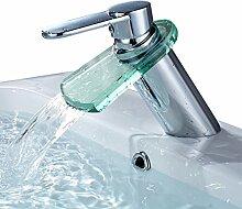 Auralum® Wasserhahn Glas Spüle Waschtischarmatur Mischbatterie Waschtisch Armatur