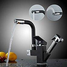 Auralum Wasserhahn küche mit brause,360° drehbar