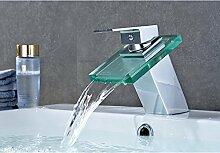 Auralum Wasserhahn Waschtischarmatur Wasserfall