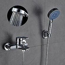 Auralum Zeitgenössische Duscharmatur Badewanne Wasserhahn Armatur Elegant mit Handbrause für Bad