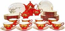 Auratic chinesisches Geschirr-Set rote Glasur