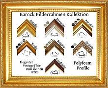 Aurelia Barock Bilderrahmen 50 x 65 cm Farbe und