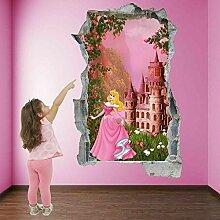 Aurora Castle Wandkunst Aufkleber Wandaufkleber