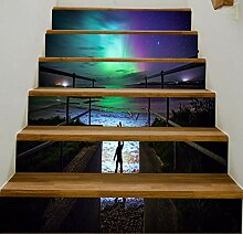 Aurora Wandaufkleber 6 Stücke Abnehmbare Treppe