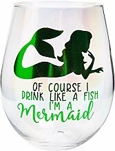 Aurora Weinglas ohne Stiel, Meerjungfrauen-Drink