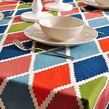 Aus baumwolle und leinen tischdecken Farbe tuch